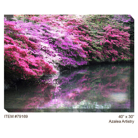 Azalea Artistry Outdoor Canvas Art - Outdoor Art Pros