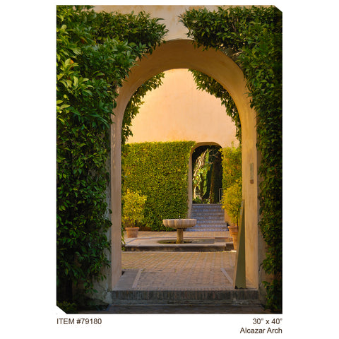 Alcazar arch outdoor canvas art outdoor art pros