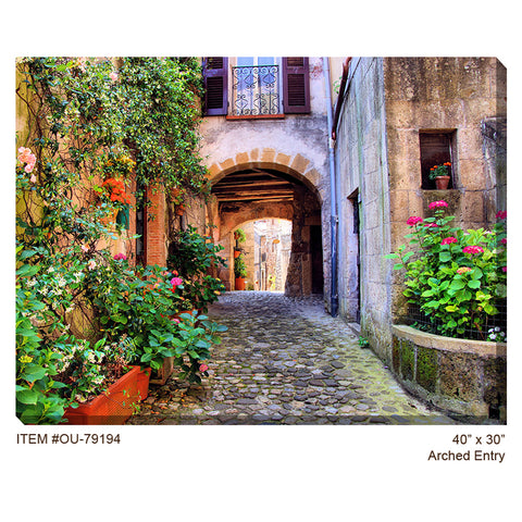 Arched Entry Outdoor Canvas Art - Outdoor Art Pros