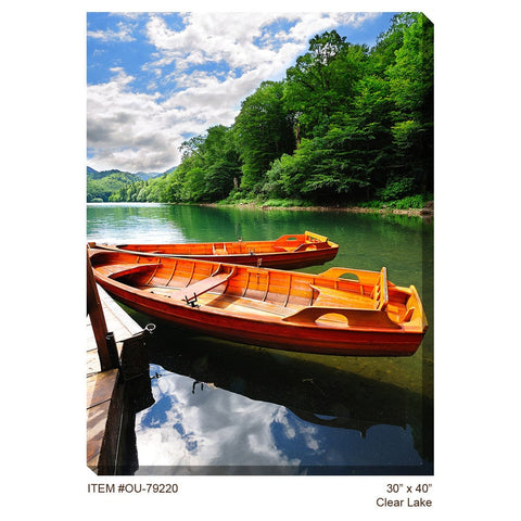 Clear Lake Outdoor Canvas Art - Outdoor Art Pros