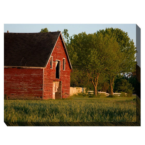 Big Red Barn Outdoor Canvas Art - Outdoor Art Pros