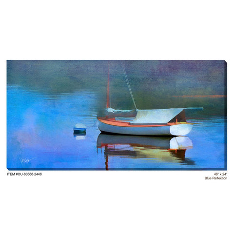 Blue Reflection Outdoor Canvas Art - Outdoor Art Pros
