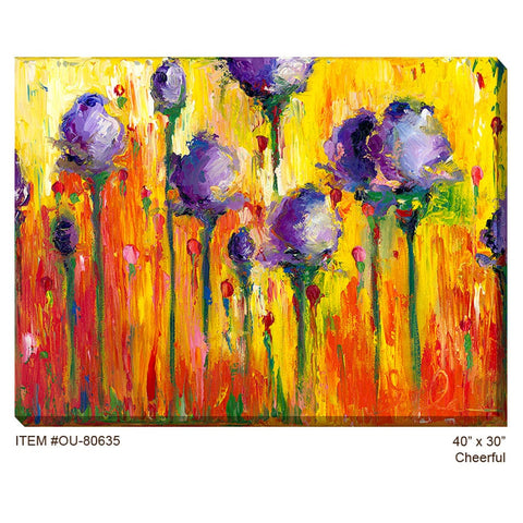 Cheerful Outdoor Canvas Art - Outdoor Art Pros