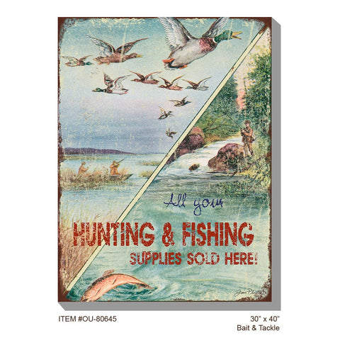 Bait and Tackle Outdoor Canvas Art - Outdoor Art Pros