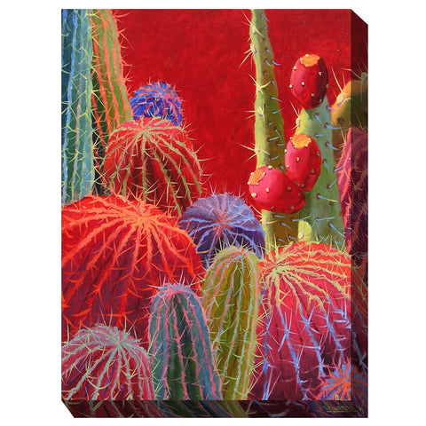 Barrel Cactus #2 Outdoor Canvas Art - Outdoor Art Pros