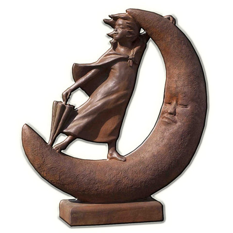 Once Upon a Moon Cast Stone Garden Statue - Outdoor Art Pros