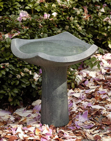 Oslo Cast Stone Birdbath - Outdoor Art Pros
