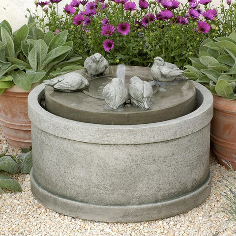 Passaros Garden Water Fountain - Outdoor Art Pros