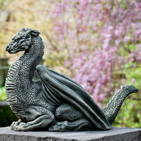 Pelath Dragon Cast Stone Statue - Outdoor Art Pros