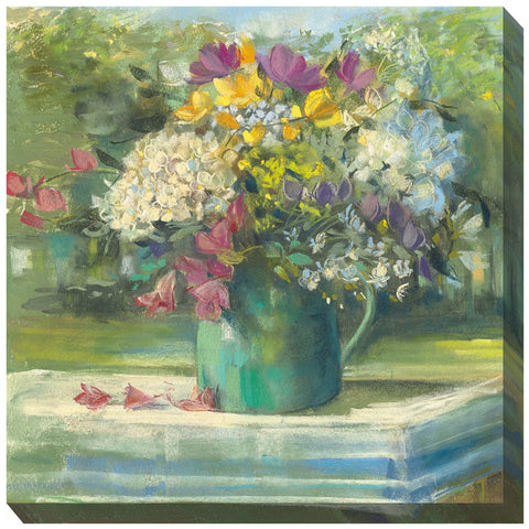 Picnic Posies Outdoor Canvas Art - Outdoor Art Pros