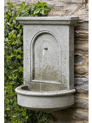 Portico Wall Outdoor Water Fountain - Outdoor Art Pros