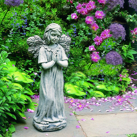 Praying Angel Garden Statue - Outdoor Art Pros