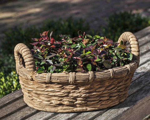 Provencal Basket Garden Planter - Outdoor Art Pros