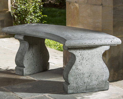 Provencal Curved Garden Bench - Outdoor Art Pros