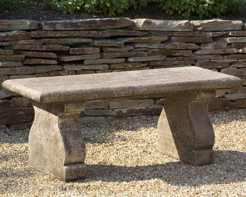 Provencal Stone Bench - Outdoor Art Pros