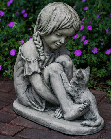 Purrfect Friends Cast Stone Garden Statue - Outdoor Art Pros