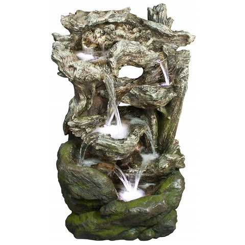 Rainforest Tiered Waterfall Fountain - Outdoor Art Pros