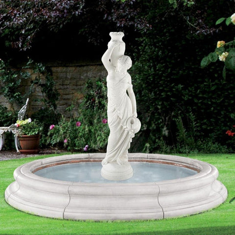 Rebecca Outdoor Fountain In Toscana Pool - Outdoor Art Pros