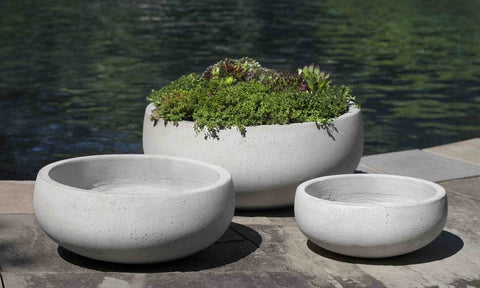 Rio Bowl in Playa Blanca Set of 3 - Outdoor Art Pros
