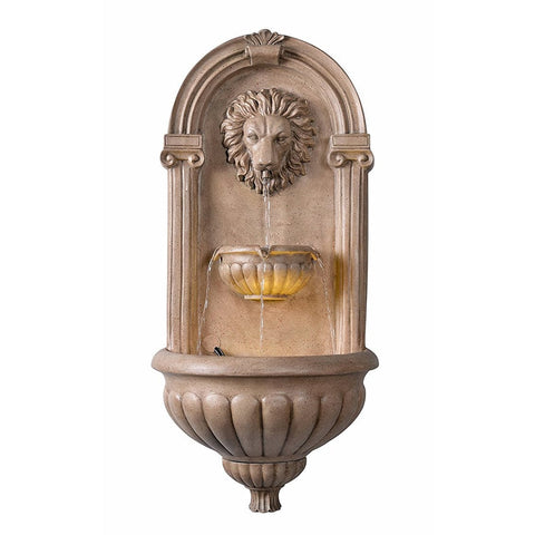 Royal Wall Fountain in Sandstone Finish - Outdoor Art Pros