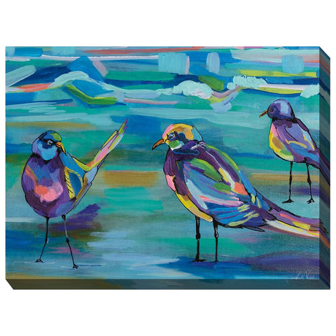 Seashore Shuffle Outdoor Canvas Art - Outdoor Art Pros
