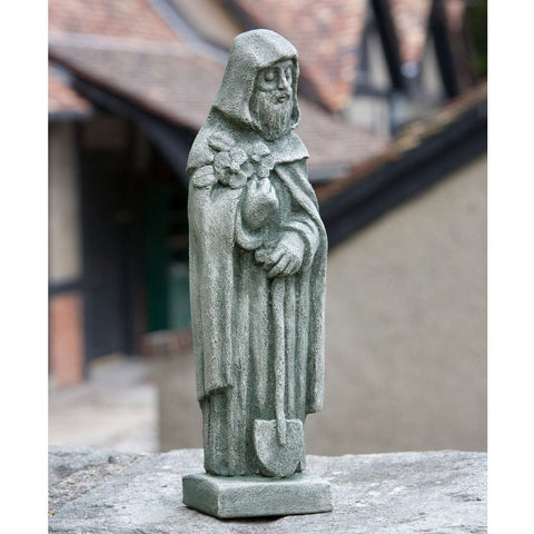 Saint Fiacre Small Garden Statue - Outdoor Art Pros