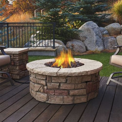Round Patio Designs Pictures: Sedona Outdoor Fireplace Round Propane/Natural Gas Fire Table