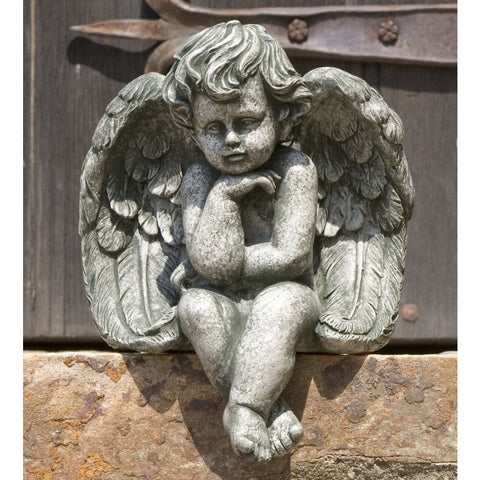 Sitting Cherub Statue-Small - Outdoor Art Pros