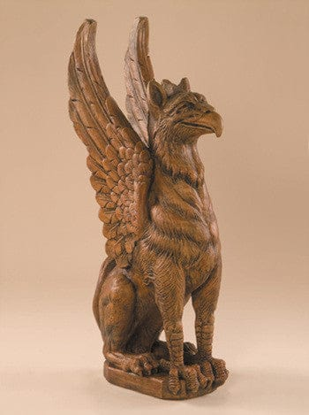 Sitting Griffin Garden Statue - Statuary - Outdoor Art Pros