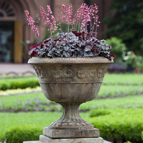 Smithsonian Foliated Scroll Urn Garden Planter - Outdoor Art Pros