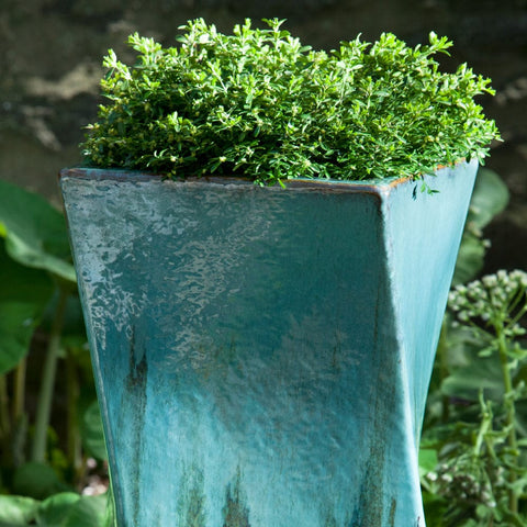 Soleil Planter in Falling Jade - Outdoor Art Pros