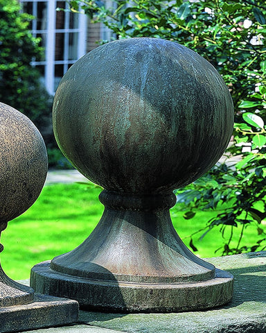 Sphere Round Base Large Cast Stone Garden Statue - Outdoor Art Pros