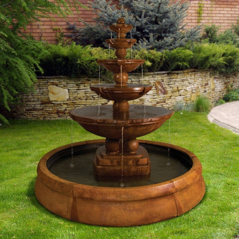 Spheres Outdoor Fountain in Crested Pool - Outdoor Art Pros