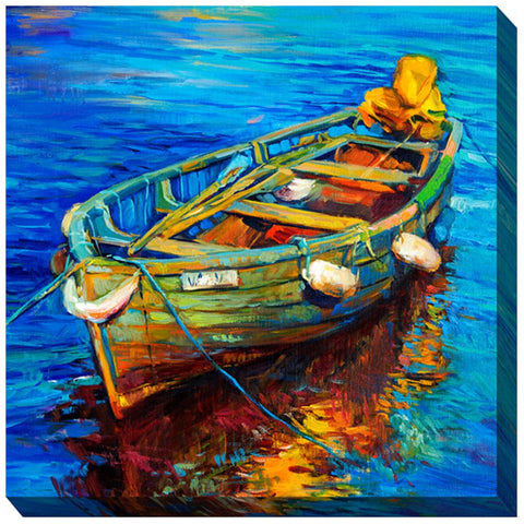 Spiro's Skiff Outdoor Canvas Art - Outdoor Art Pros