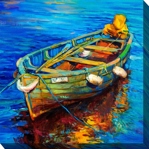Spiros Skiff Outdoor Canvas Art - Outdoor Art Pros
