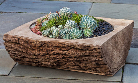 Split Log Garden Planter - Outdoor Art Pros