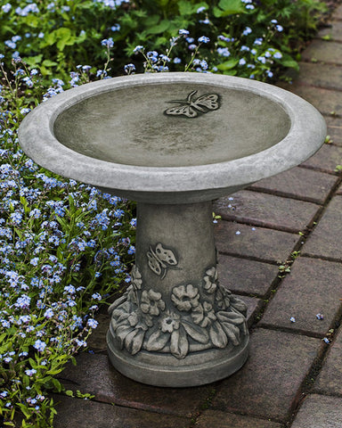 Spring Meadow Cast Stone Birdbath  Outdoor Art Pros
