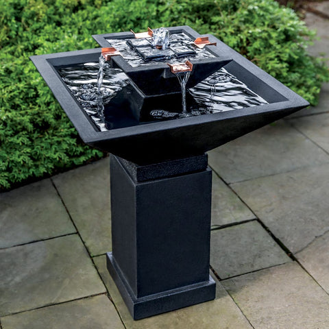 Square One Fountain - Outdoor Fountain Pros