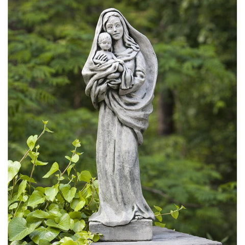 Standing Madonna and Child Garden Statue - Outdoor Art Pros