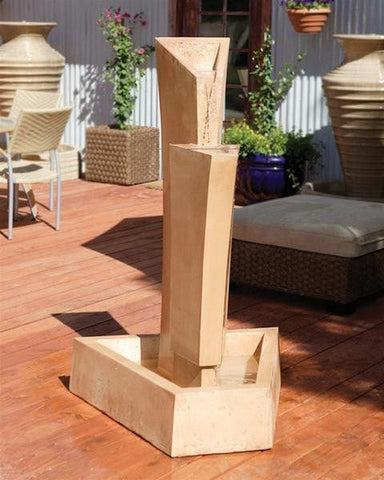 Tower Outdoor Water Fountain - Outdoor Art Pros