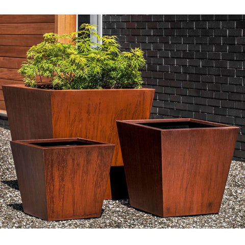 Steel Tapered Planter -Set of 3 - Outdoor Art Pros