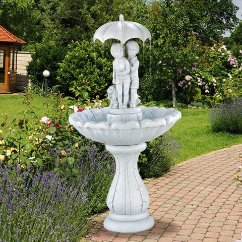 Summer Showers Pedestal Garden Fountain - Outdoor Art Pros