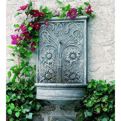 Sussex Wall Outdoor Water Fountain - Outdoor Art Pros
