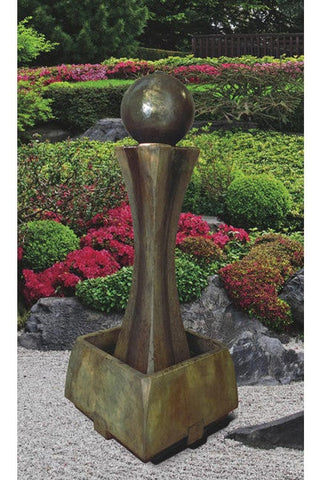 Tall Hourglass Outdoor Fountain - Outdoor Art Pros