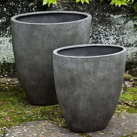 Tall Oval Concrete Lite Planter - Outdoor Art Pros