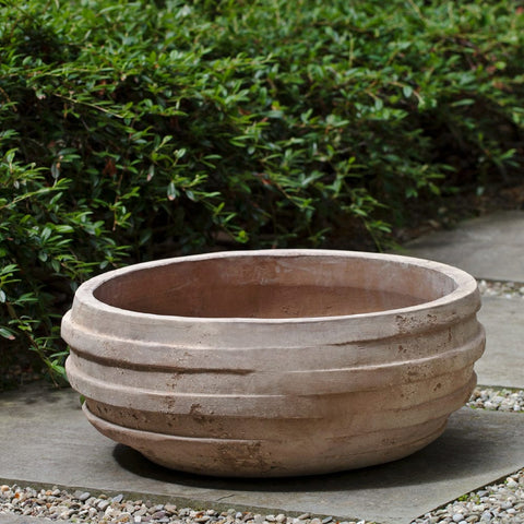 Tela Bowl - Set of 3 in Antico Terra Cotta - Outdoor Art Pros