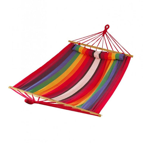 Bliss Oversized Hammock with Spreader Bars & Pillow (Tequila Sunrise) - Outdoor Art Pros