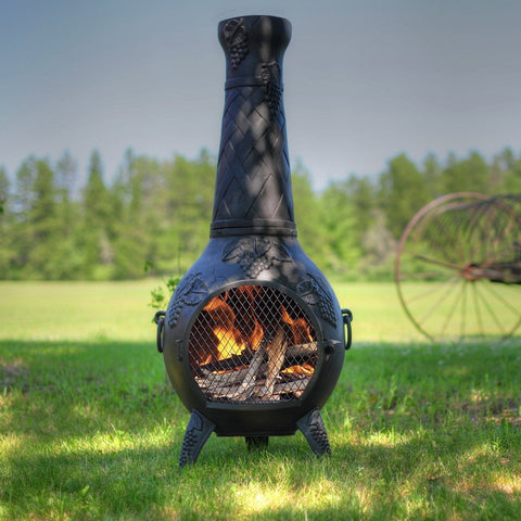 The Blue Rooster Grape Chiminea