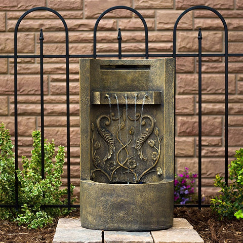 "The Tuscany 26"" Floor/Wall Fountain - Outdoor Art Pros"