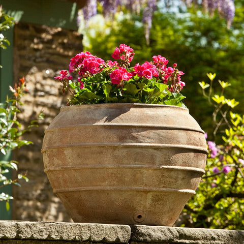 Thea Planter in Antico Terra Cotta - Outdoor Art Pros